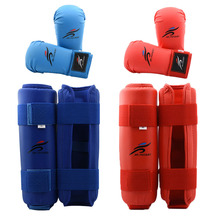 Taekwondo Sparring Gear Set MMA Boxing Gloves Leg Shin Guard Hand Palm Foot Protector Women Bands Karate Socks Unisex Adult Kids цена