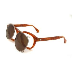 Image 3 - 작은 아세테이트 광학 안경 프레임 선글라스에 라운드 클립 남자 편광 된 uv400 고품질 여성 그늘 조니 depp 스타일