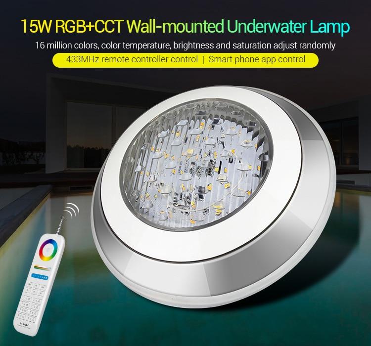MiBoxer IP68 Подводный 27 Вт RGB + CCT настенный подводный умный светильник UW01 433 МГц дистанционное управление приложение управление