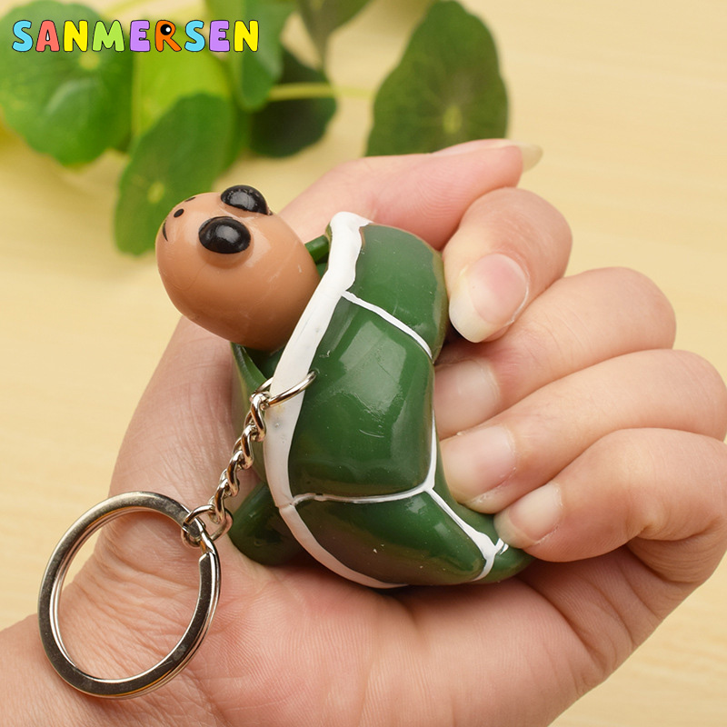1PC Squishy Toy Anti Stress Squeeze Toys Stress Relief Toys Funny Gadgets Tortoise Out Of The Shell Key-chain Kids Adult Toys