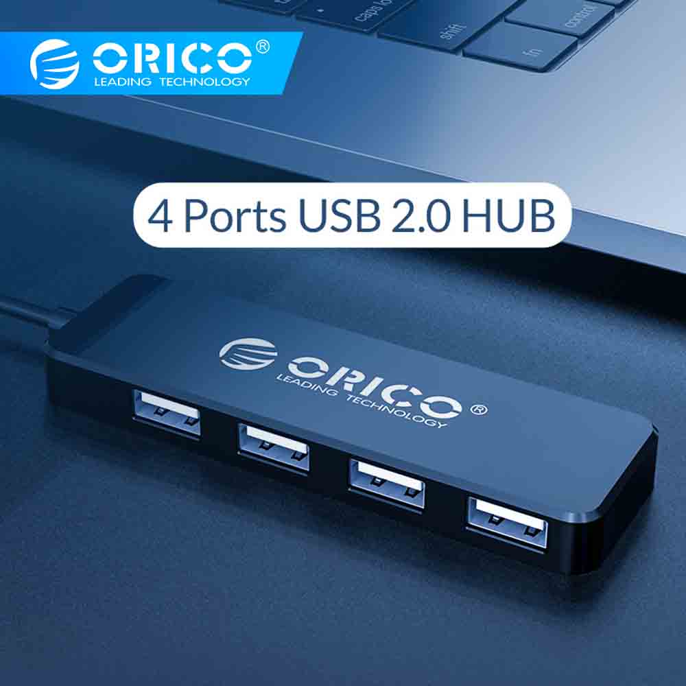 ORICO USB 2.0 HUB 4 Ports Mini High Speed Multi USB Splitter Expander Portable OTG Adapter For Laptop PC Huawei Mate 10 Pro