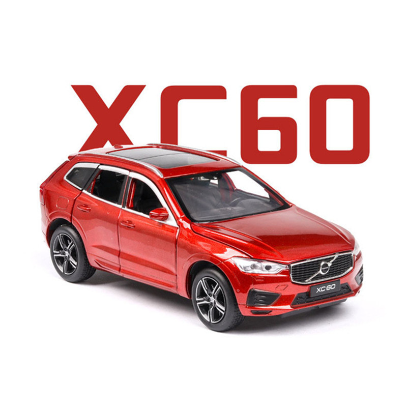 1:32 NEW Volvo XC60 Shock Absorption Diecast Model CAR SUV Toys For Kids Boy Girl Gifts