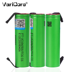 2020 VTC6 3.7V 3000 mAh 18650 Li-ion Rechargeable Battery 20A Discharge VC18650VTC6 batteries + DIY Nickel Sheets