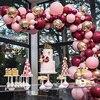 112ชิ้น/เซ็ตสีชมพูBurgundyลูกโป่งGarland Arch Confettiบอลลูนงานแต่งงานBaby Showerวันเกิดเด็กGlobos