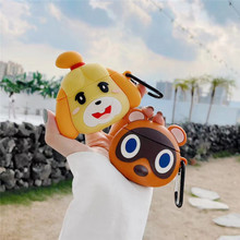 Cute Animal Crossing New Horizons 3D Earphone Case for Airpods 1 2 Case Silicone Cartoon Headphone