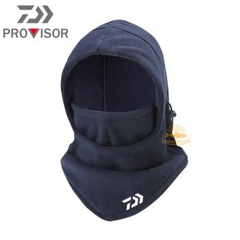 Winter DAIWA Fishing Mask Men's Outdoor Warm and Windproof Cycling Headgear Polar Fleece Face Protection Bib Fishing Hat 4