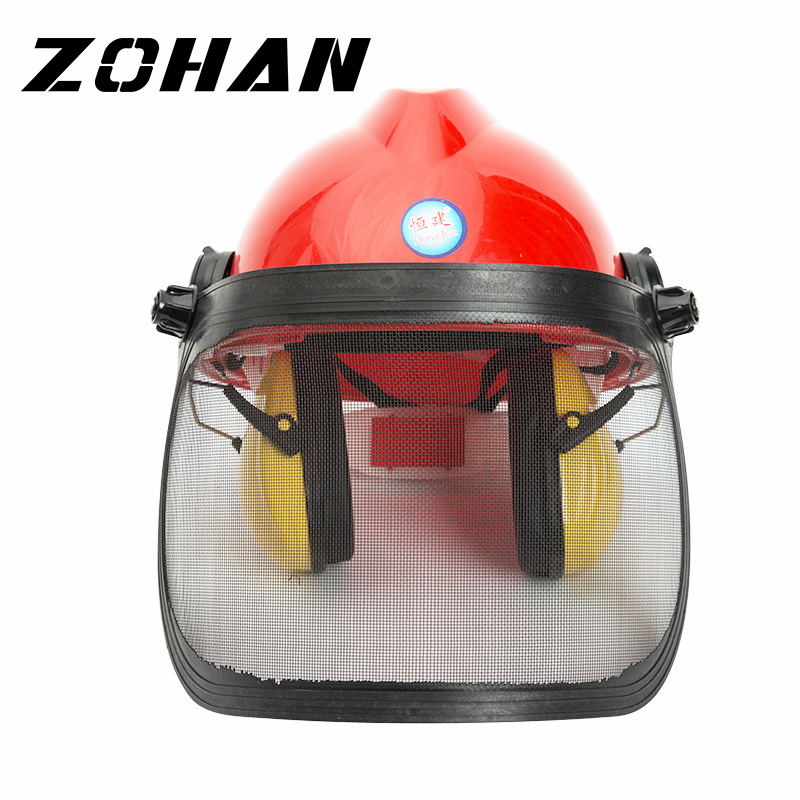 ZOHAN 3-in-1 Safety Helmet With Hearing And Face Protection Heavy Duty Hard Hat Removable Ear Muffs And Visors For Brush Cutters