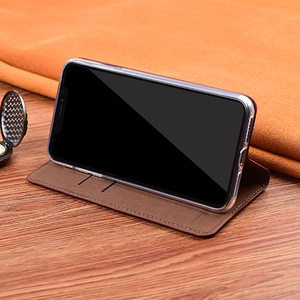 Image 4 - מגנט טבעי אמיתי עור עור Flip ארנק ספר טלפון מקרה כיסוי על לxiaomi Redmi הערה 4 4X X Note4 note4X פרו 32/64 GB