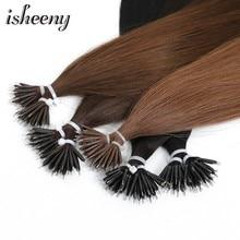 14 дюймов прямые микро бусины европейские Remy Nano кольцо звенья человеческих волос для наращивания 0,6 г/стенд блонд черный 10 цветов