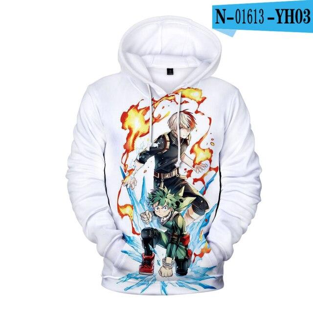 My Hero Academia Novelty Children 3D Hoodies Fashion Print Sweatshirt Pullovers Funny Kids Hoodie New Arrival Streetwear Hoodies