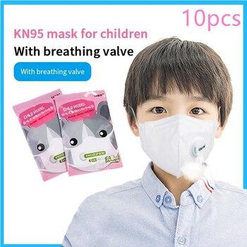 10pcs Kids Respirator Mask FFP3 Mask Mascarilla FFP2 Face Mask N95 Breathing Valve Antivirus Masks Anti Dust Flu Anti Haze Mask