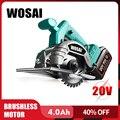 WOSAI 20 в бесщеточная циркулярная пила  электроинструменты  пильные диски 110 мм  лезвие для циркулярная пила по дереву  высокомощный и режущий ...