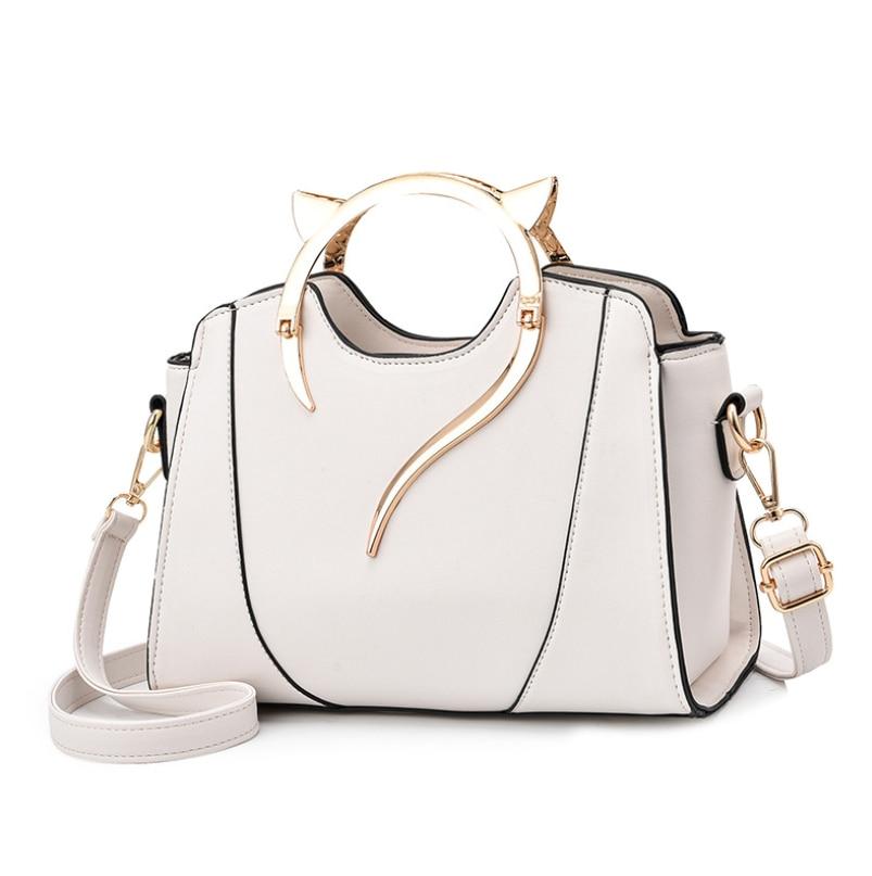 HOT!new high quality female bag fashion cat ear image tote bag large capacity shoulder bag brand designer messenger bag women|Top-Handle Bags| - AliExpress