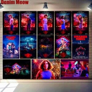 Stranger Things Season 3 Plaque Vintage Metal Tin Sign Bar Club Cafe Cinema Decor Home Decoration Wall Art Stickers N317