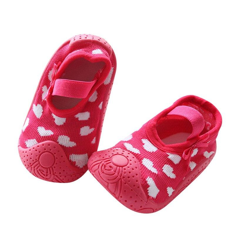 Детские носки, резиновая подошва, домашние носки для малышей, Нескользящие домашние тапочки, для девочек, детская резиновая подошва, Противоскользящие тапочки