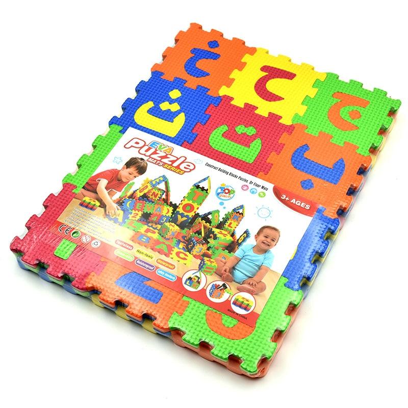 36 шт./Набор детская головоломка EVA Alphabet коврик арабский игрушки с буквами для раннего развития детей буквы головоломки игровые коврики мале...