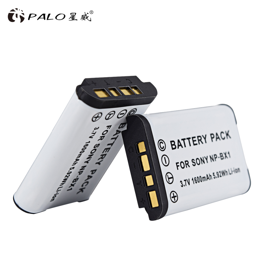 PALO 2pcs NP-BX1 np bx1 <font><b>Battery</b></font> For <font><b>Sony</b></font> DSC-RX100 DSC-WX500 IV HX300 WX300 <font><b>HDR</b></font>-AS15 X3000R MV1 AS30V <font><b>HDR</b></font>-<font><b>AS300</b></font> image