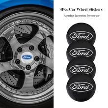 4 pçs metal roda de carro adesivos cubo automático tampa emblema para ford focus mondeo fiesta ranger mustang fusão everest s max kuga