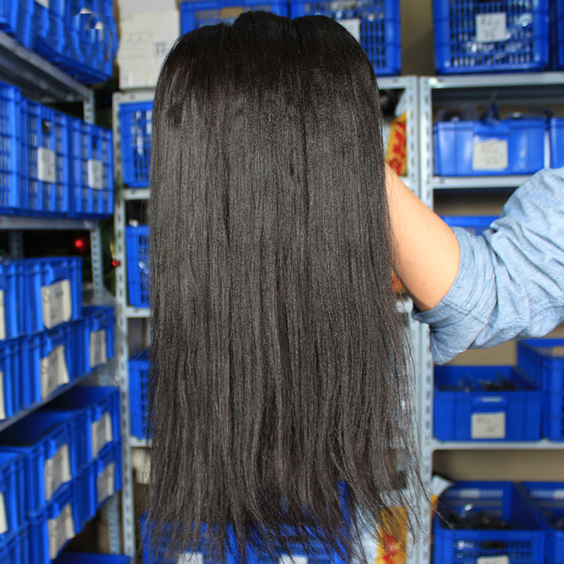 Light-Yaki-Human-Hair-Malaysian-Hair-Bundles-Yaki-Straight-Natural-Black-Can-By-3-or-4 (2)