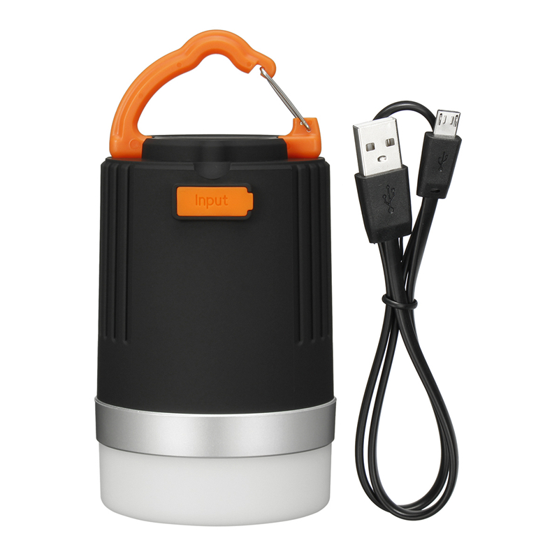 4modes 4W Portable Camping Lantern Multifunction USB Rechargeable LED Light 10400mAh Power Bank Waterproof Torch Emergency Lamp