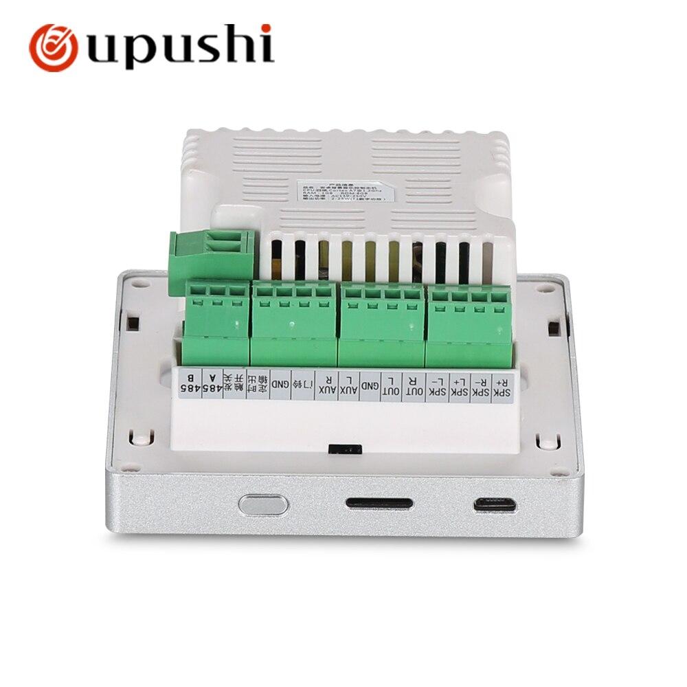 Amplificateur stéréo numérique audio WIFI 4 , écran tactile dans le système android mural, lecteur de musique USB audio à la maison, système home cinéma HDMI - 6
