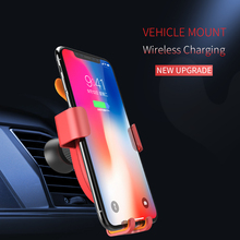 лучшая цена MADEVIL Car Wireless Charger Automatic Clamping phone Holder for iphone huawei Phone Car Charger Holder Fast Wireless Charger