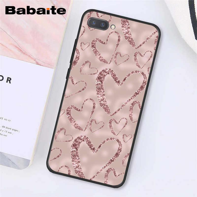 Babaite وردة ذهبية بريق الوردي الحب هيرات الهاتف حافظة لهاتف huawei الشرف 8X9 10 20 لايت 7A 8A 5A 7C 10i 20i View20