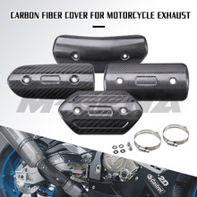 Motorcycle Exhaust Pipe Carbon Fiber Protector Heat Shield Cover Guard Anti-scalding Cover For CB650F Z900 TMAX530 CB400 XMAX300