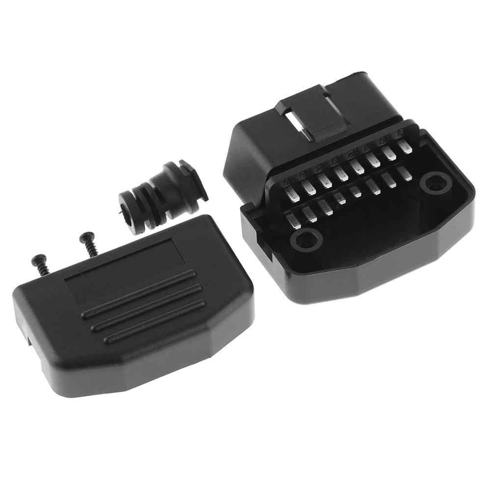 OBD II OBD2 L tipo 16 Pin macho Auto conector de Cable enchufe con carcasa y tornillo