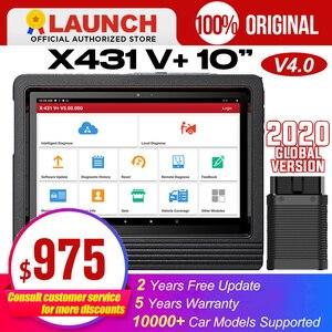 "Image 1 - Launch X431 V+ 10"" V4.0 obdii obd automotive scanner obd2 scanner auto diagnostic tool bluetooth Wifi key porgrammer ECU Coding"