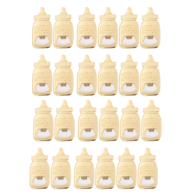 20Pcs/Lot Baby Bottle Shaped Opener For Wedding Home Baby Shower Return Gifts For Guest