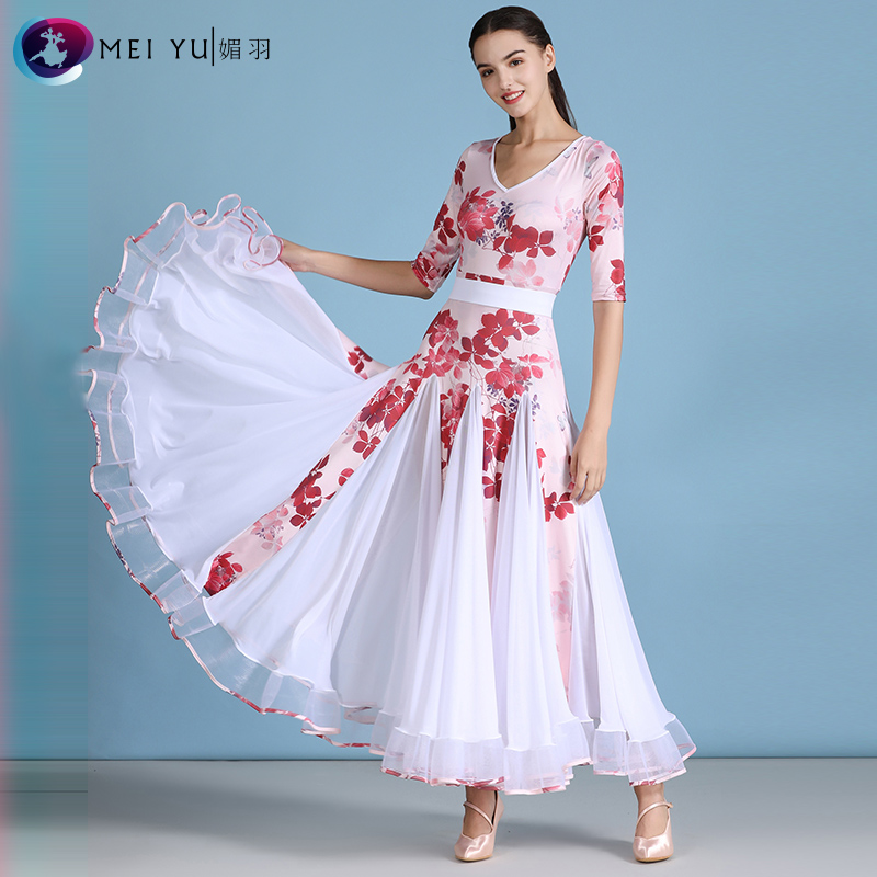 New Ballroom Dance Competition Dress Dance Ballroom Waltz Dresses Standard Dance Dress Women Ballroom Dress MY825