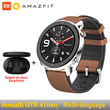 Global Version Amazfit GTR 47mm Smart Watch Huami 5ATM Waterproof Smartwatch 24 Days Battery GPS Music Control For Android IOS
