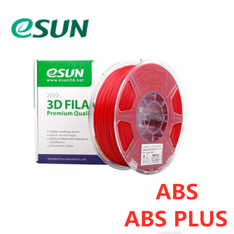 eSUN 1.75mm Red ABS/ ABS PRO (ABS+) 3D Printer Filament 1KG colors choices 3D printing material for 3D printers