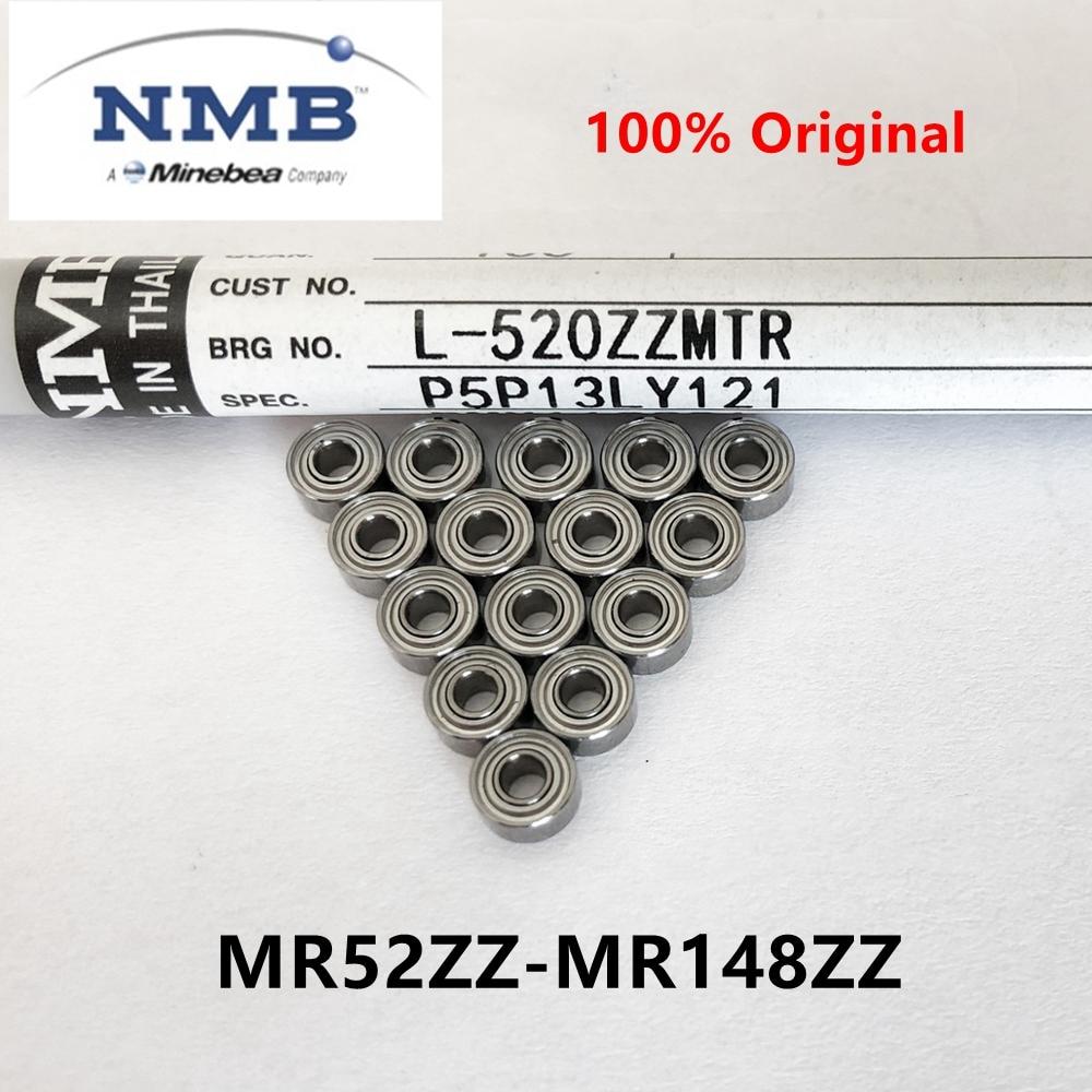 50pcs NMB Minebea ABEC-5 Bearing MR52/62/63/72/74/83/84/85/95/104/105/115/106/126/117/137/128/148 ZZ Miniature Ball Bearings
