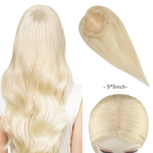 Hair-Topper Blonde Human-Hair Clip-In Natural Women for Machine Remy Straight Brazilian