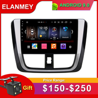 Gift Camera Car Radio for TOYOTA YARIS vios 2016 Android 9.0 GPS Navigation Bluetooth Touch screen Car Audio Stereo Multimedia