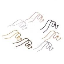 100 шт./лот, 21*16 мм, серебряные, золотые, бронзовые Крючки для сережек, застежки для самостоятельного изготовления ювелирных изделий
