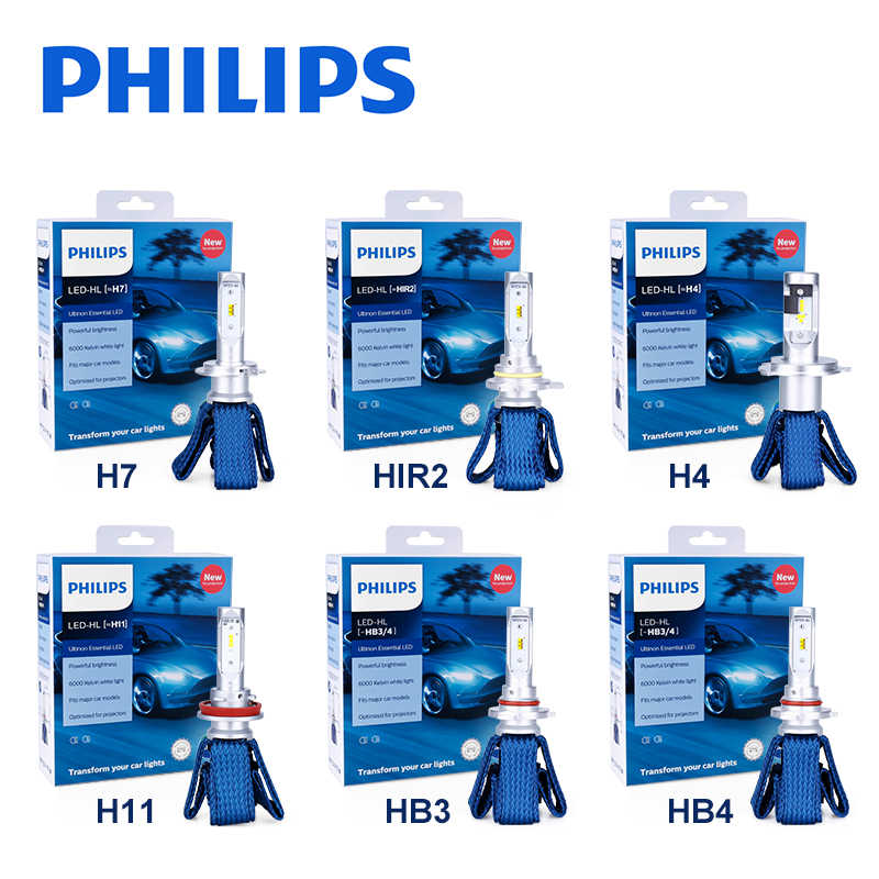 Philips H4 LED H7 HB3 9005 9006 HB4 H11 H16(JP) 9012 HIR2 Car Lights 6000K auto High Low Beam 12V nebbia copper strip Fog Lamp