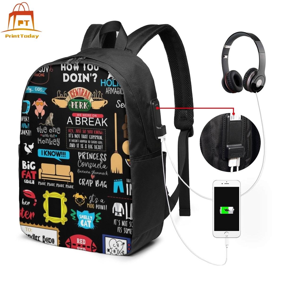 Friends Joey Backpack Friends Joey Backpacks Multi Purpose High Quality Bag Pattern Teen Street Trending Bags
