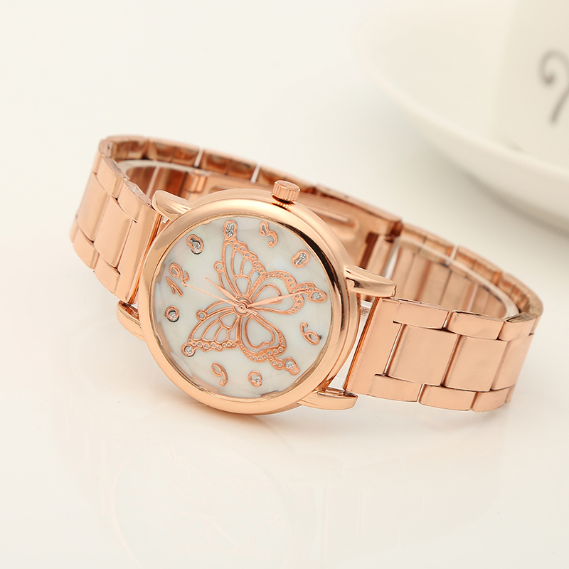 Luxury Women Rose Gold Quartz Watches Ladies Business Watch Dress Wristwatches Bracelet Relogio Feminino