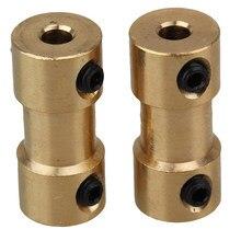 2 pces 2mm/2.3mm/3mm/3.17mm/4mm/5mm/6mm de bronze rígido eixo do motor acoplamento acoplador de transmissão do motor conector com parafusos chave