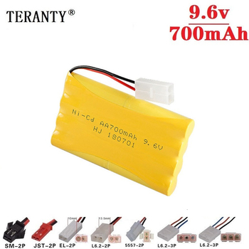 (Modelo H) batería NiCD de 9,6 v 700mah para tanques de coches de juguete Rc trenes Robot Boat Gun ni-cd AA 700mah 9,6 v batería recargable 1 Uds