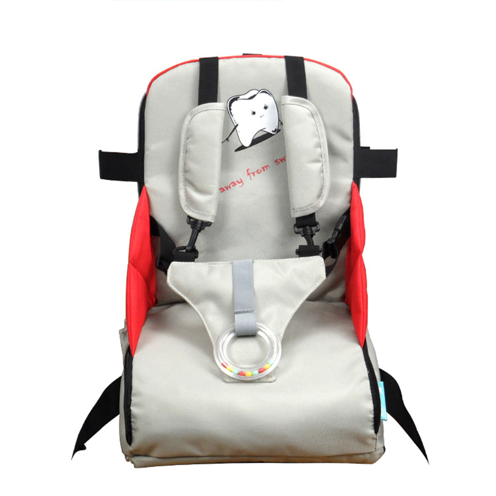 Stool Oxford Cloth Infant Dining High Chair Folding Traveling Baby Feeding Children Booster Seats Portable Detachable Zipper