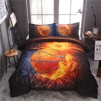 Basketball Comforter Set Bedspread With Pillow Case Quilted Blanket Sport Bedding Sets