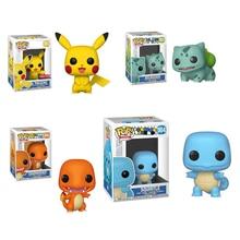 Funko POP Games: Bulbasaur Пикачу чармандер Сквиртл виниловые фигурки модель игрушки подарки