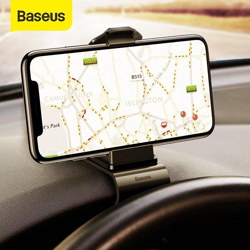 Baseus Dashboard Car Phone Holder Universal Mount Cradle Cellphone Clip GPS Bracket Mobile Phone Holder Stand for Phone in Car