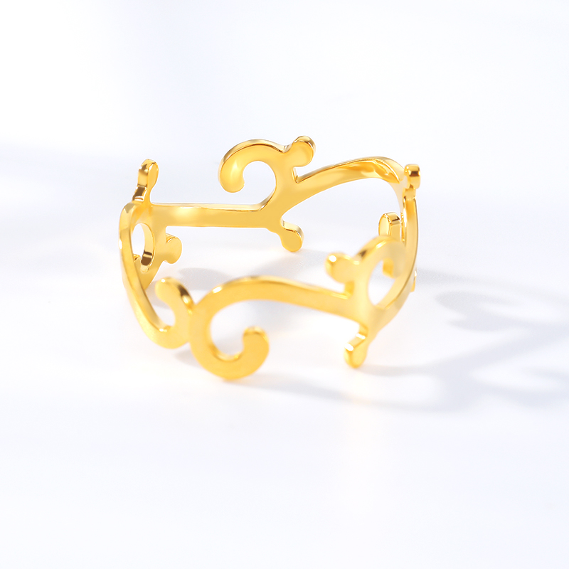 Stainless Steel Plant Branch Rings For Women Girls Anillos Mujer Jewelry Accessories Bijoux Femme Gold Ring Bridesmaid GIfts in Rings from Jewelry Accessories