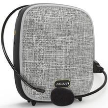 חדש נייד מגפון עם מיקרופון הוראת חיצוני מגפון מיני מוסיקה נגן קול מגבר תמיכה AUX TF MP3/WMA/ WAV פורמט