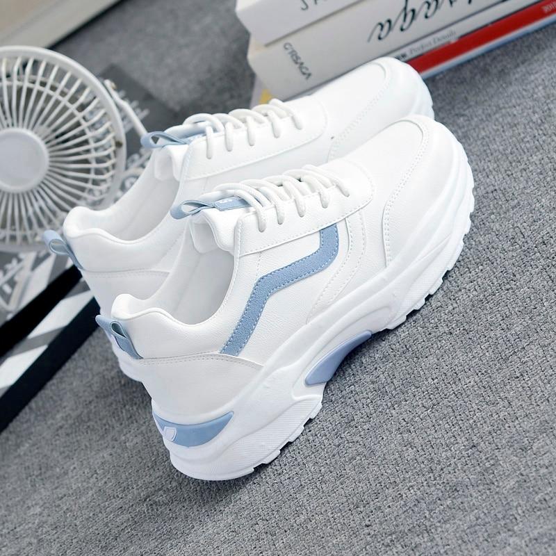 white platform womens sneakers